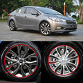 Car-Styling New 15-17 Inches Carbon Fiber Wing Wheels Mask Decal Sticker Trim For KIA K3