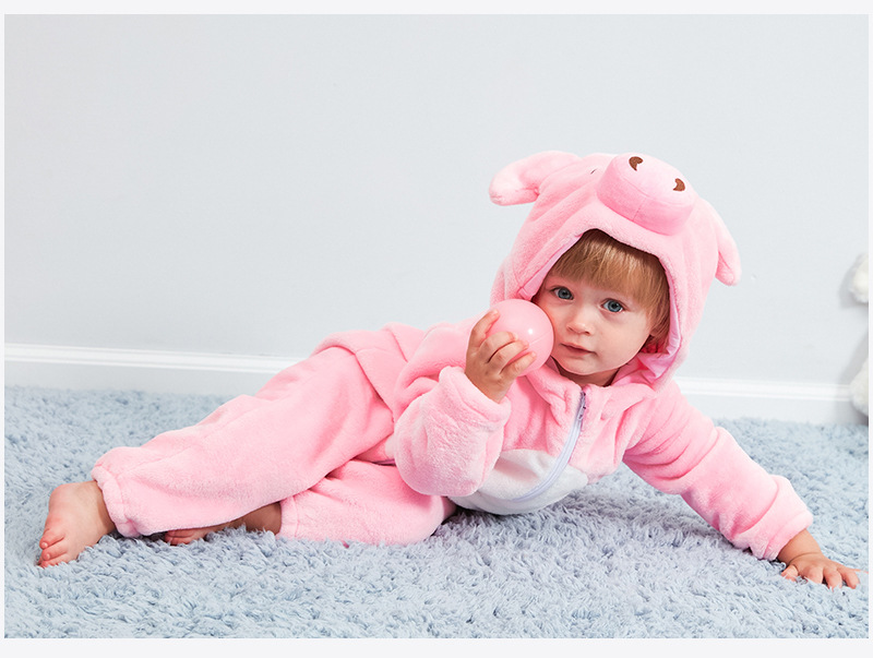 HTB1f.JpR9zqK1RjSZFjq6zlCFXaO Baby rompers new born baby girls clothes Hooded pajamas mameluco bebe warm winter animal costumes roupas de bebe dropshipping