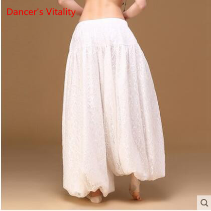 Image 3 - sexy loose unisex bloomers dance pant tribal dance harem pants two layers of white lace for men and women, free shippingbelly dance skirtbellydance skirtsexy belly dance -