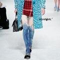 2016 Mídias Pantis Mulher Collant As Novas Calças Justas Mulheres Em europa E Do Vento Impressão Onda Meia-calça Fina de Renderização de Alta Cor collants