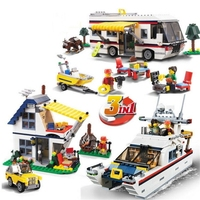 Lepin 3117 Vacation Getaways Camper Summer Home Architect 3 In 1 Building Block Set 2 Mini