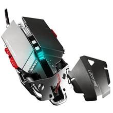 LUMO Professionelle 4000 DPI Einstellbar Optische Mechanische Gaming Programmierbare 10 Taste USB Verdrahtete Mäuse Competitive Spiel Maus