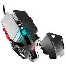 Professionelle 4000 DPI Einstellbar Optische Mechanische Gaming Maus Programmierbare 10 Taste USB Verdrahtete Mäuse Competitive Spiel Maus