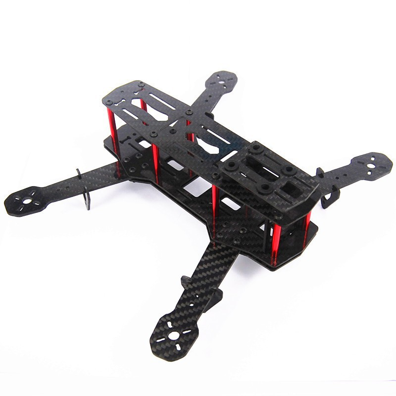 For DIY FPV Drone As ZMR250 Q250 Mini Alien Across Full Carbon Fiber 250mm 250 RC Quadcopter Frame Kit Unassembled F09205 diy carbon fiber frame arm with motor protection mount for qav250 zmr250 fpv mini cross racing quadcopter drone