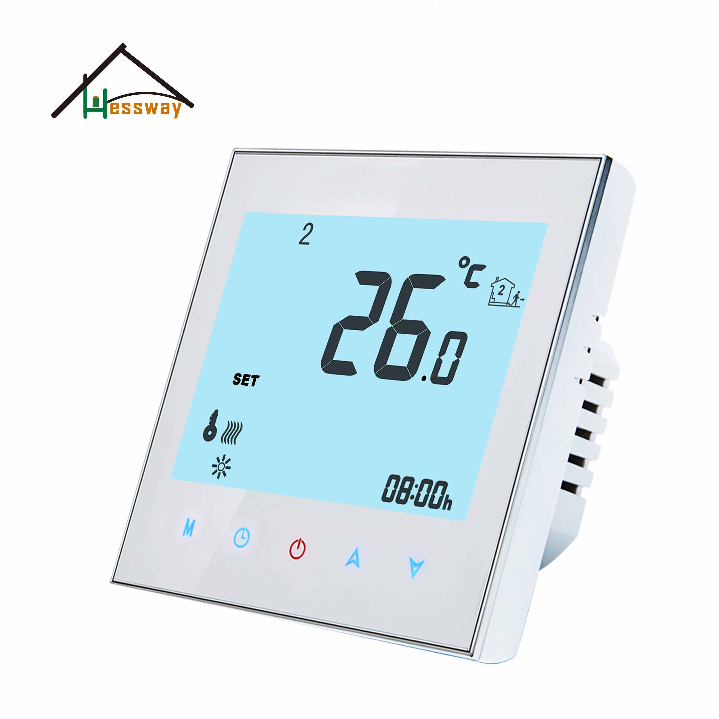 HESSWAY 24v,95-240VAC 2P Heat Cool Temp Smart Thermostat For 0-10V Proportion Output