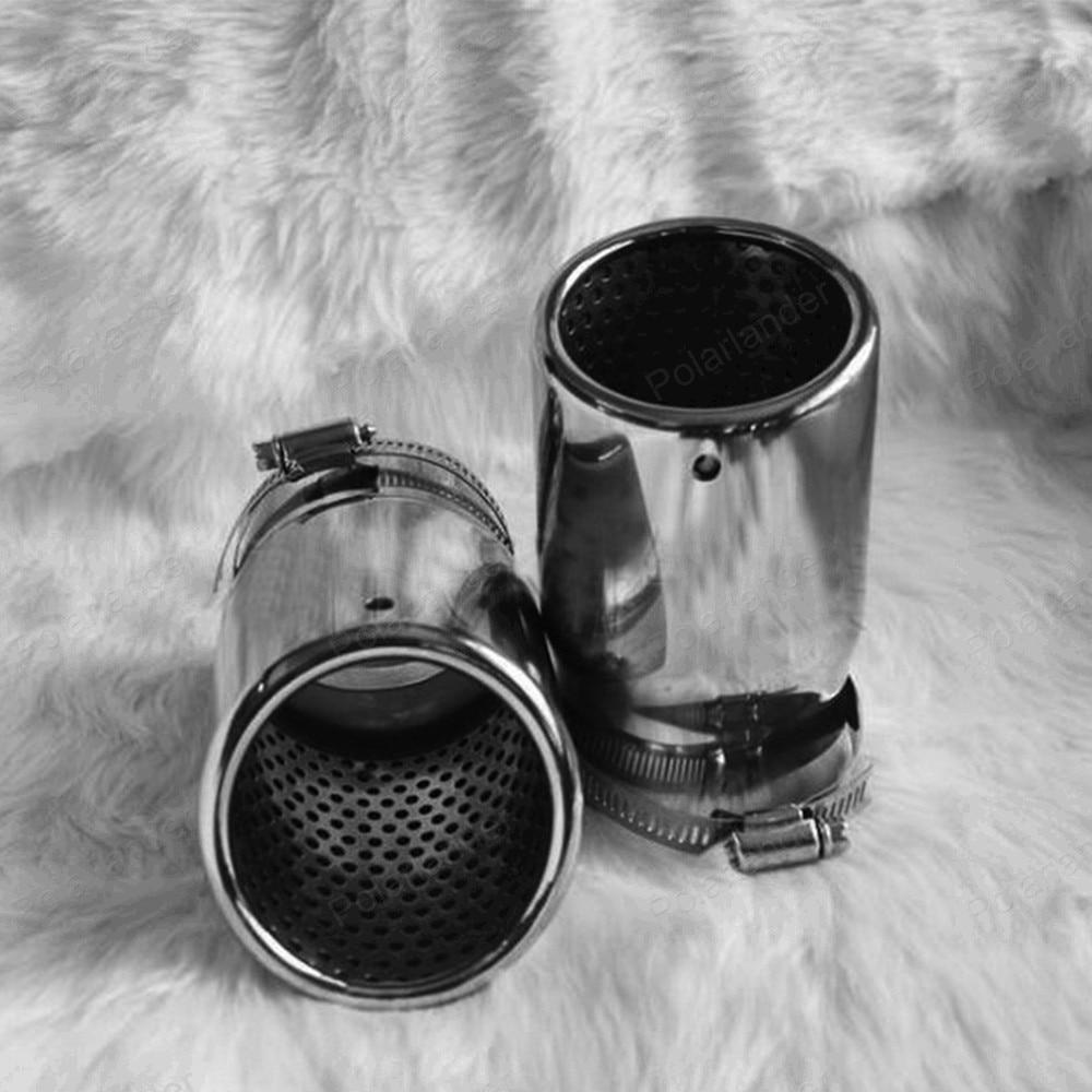 Escape tailpipe for A/udi q5 a4 b8 S/edan 2.0t v/w t/iguan 2009 -2012 chrome stainless steel car exhaust pipe muffler купить ауди q 5 2009