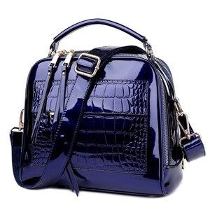 Image 2 - 2018 Neue frauen Messenger Taschen Patent Leder Handtaschen Für Damen Mode Schulter Taschen Umhängetaschen Für weibliche bolsa AWM105
