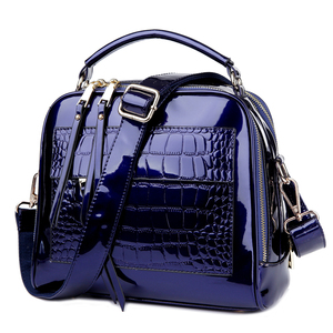 Image 2 - 2018 New Womens Messenger Bags Patent Leather Handbags For Ladies Fashion Shoulder Bags Crossbody Bags For female bolsa  AWM105