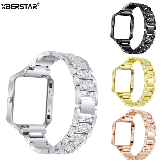 Rhinestone Stainless Steel Link Bracelet Watch band Wrist Strap for ...