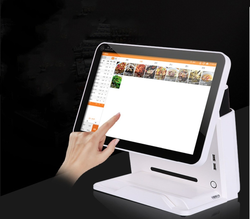 15.6 Inch J 1900 Wiescreen Resistive Touch Retail Pos System With Cash