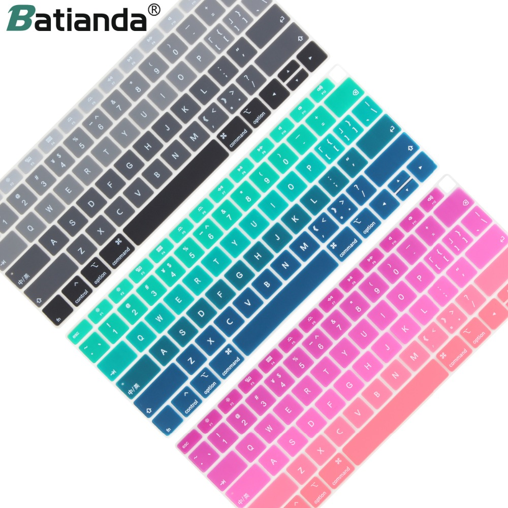 """US Korean Silicone Keyboard Cover Protector For MacBook Air 13/""""A1932 Newest 2018"""