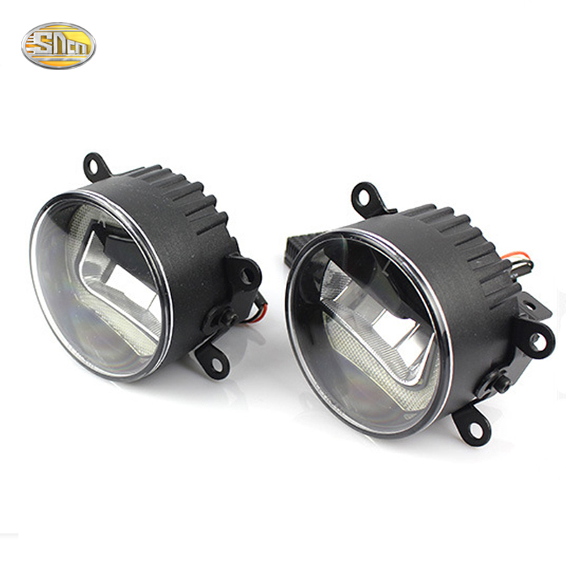 SNCN High Brightness 90mm LED fog lamp for Citroen DS3 DS4 DS5 Daytime Running Lights LED DRL car specific led daytime running lights drl high brightness conversion case for 10 12 b m w x5 e71 freeshipping ggg