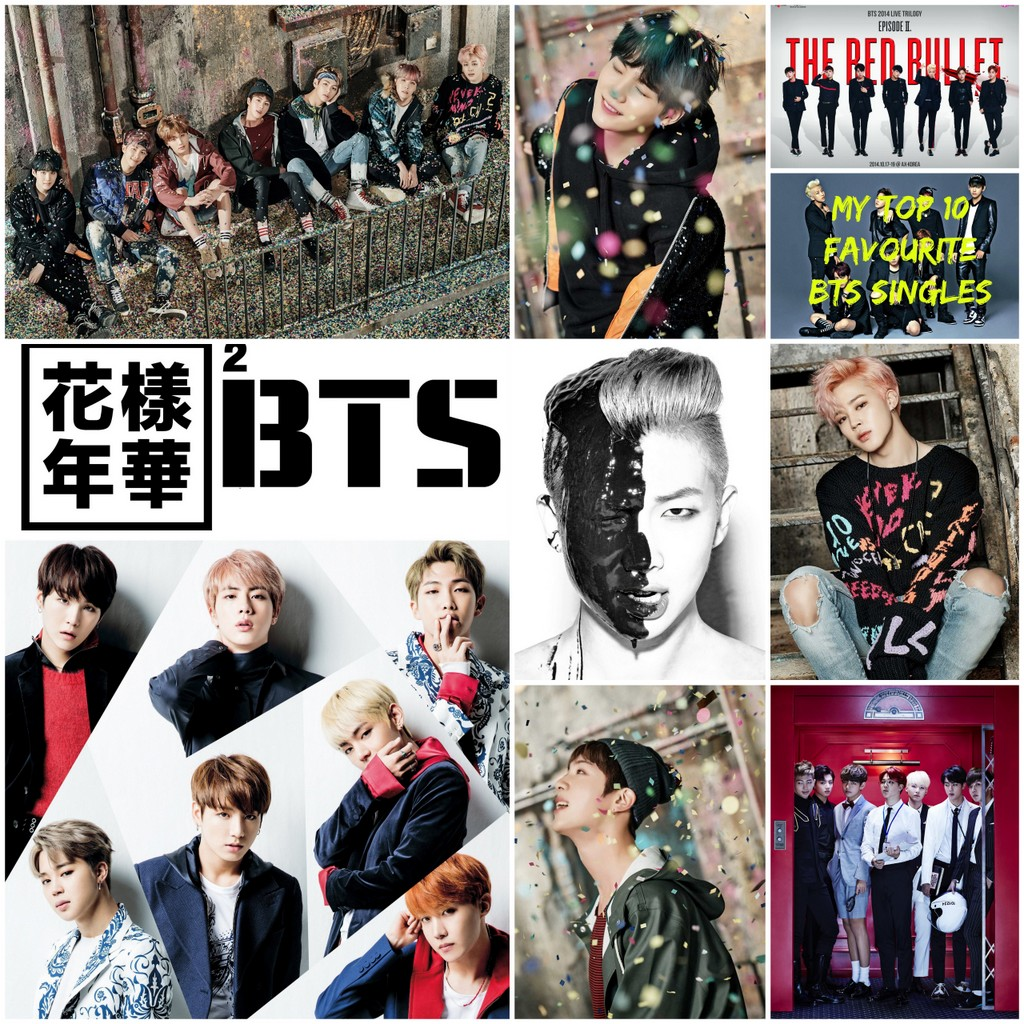 BTS Vintage Retro Posters Wall Stickers Home Decoration