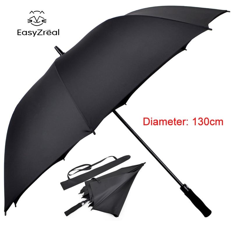 EZ parapluie strong windproof Long Straight handle men umbrella Creative large Outdoor Male women Business Big Black Umbrellas
