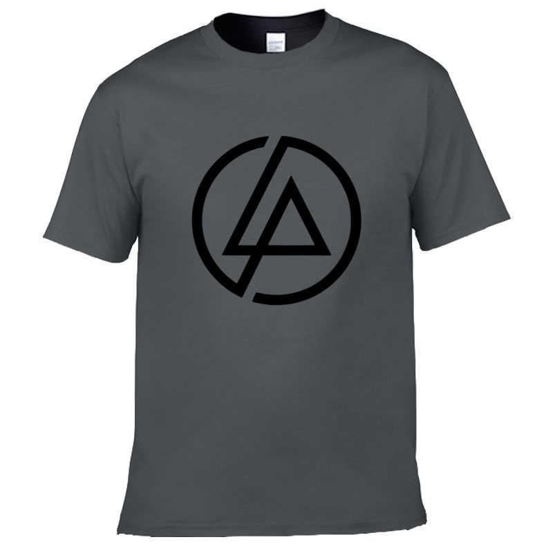 לינקולן לינקין פרק רוק מודפס גברים של החולצה T חולצה לגברים 2018 קצר שרוול כותנה מקרית למעלה טי Camisetas masculi
