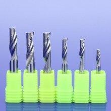 3 pces hsk 3.175mm ced 1.5 3.175mm únicos cortadores de trituração da flauta para o carboneto contínuo de alumínio das ferramentas do cnc, painéis compostos de alumínio