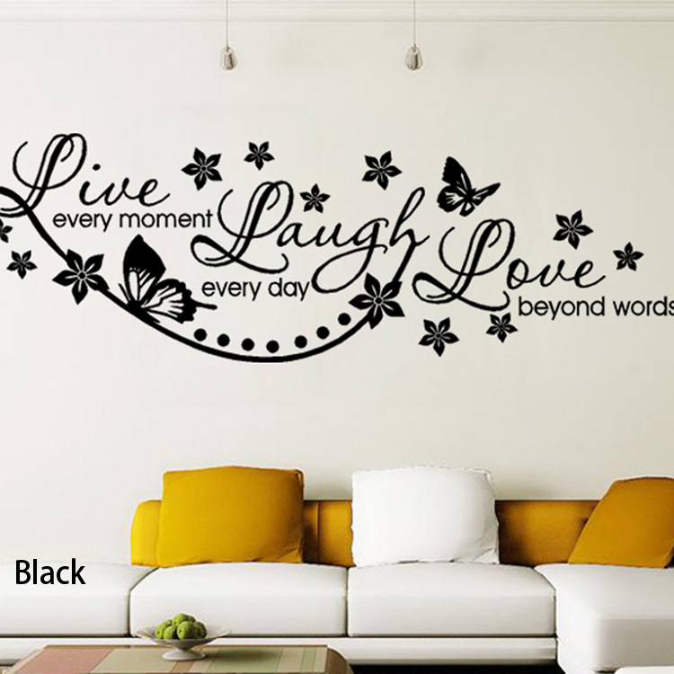 Vinyl Live Laugh Love Wall Art Sticker Lounge Room Quote Decal Mural  Stencil Diy Decor Living Room Bedroom Office HG WS 1535 In Wall Stickers  From Home ...