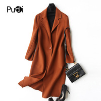 PUDI A37002 women's winter warm Wool polyester with collar coat lady coat jacket overcoat