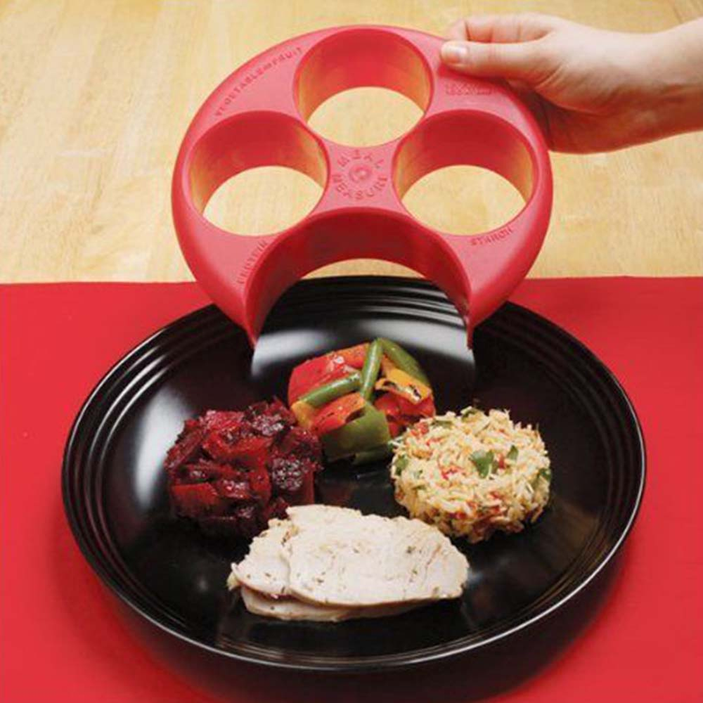 New Brand Meal Measure Weight Loss Diet Portion Plan Control Plate Manage Control Plate New Assorted Color KC1052 image