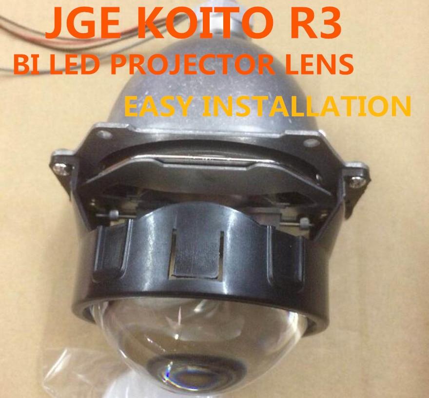 "DLAND JGE KOITO-R 3 ""LI PROJECTOR BI LED ، نصب آسان 36W با پرتو عالی و پرتو عالی"