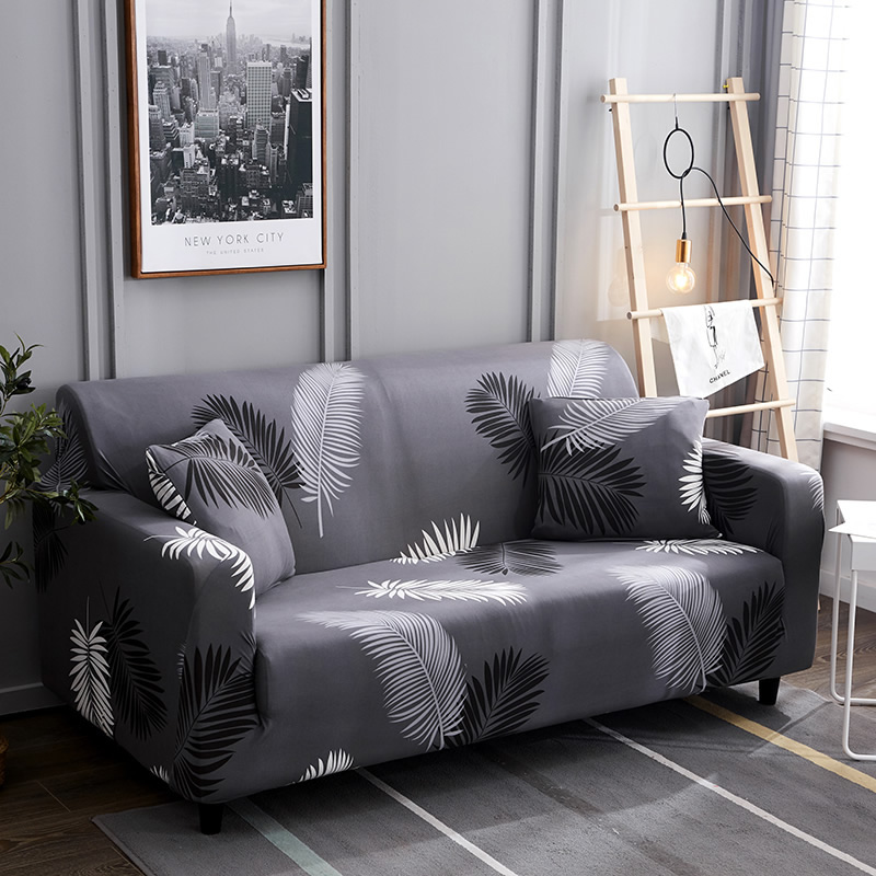 Lellen grey color Sofa Cover Tight Wrap All inclusive Slip