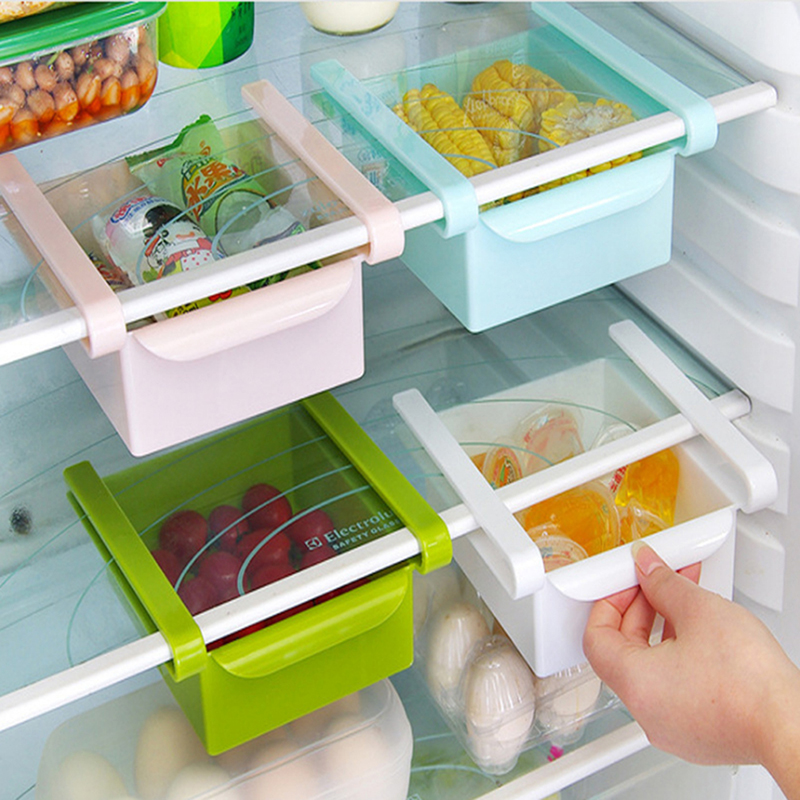 Plastic Fresh Spacer Layer Storage Rack Fridge Storage Box