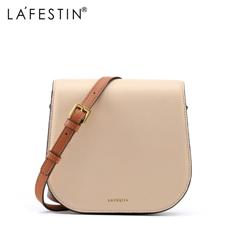 LAFESTIN 2018 new Fashion leather saddle bag mini shoulder bag Messenger bag casual women handbag 2018 new fashion nubuck leather women s mini handbag vintage women s small handbag casual zipper shoulder messenger bag