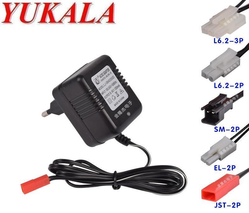 YUKALA 6.4V wall charger for 6.4v li-ion battery with JST 2P plug