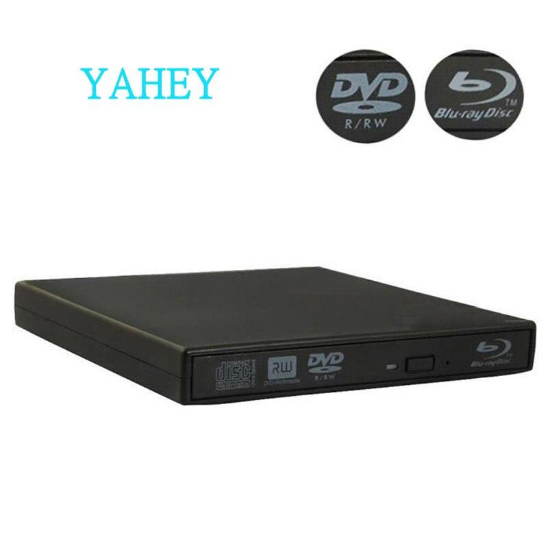 Blu-ray плэер Знешнія USB 2.0 DVD-прывад Blu-ray 3D 25G 50G BD-R BD-ROM CD / DVD RW Burner Writer Recorder для партатыўнага кампутара PC