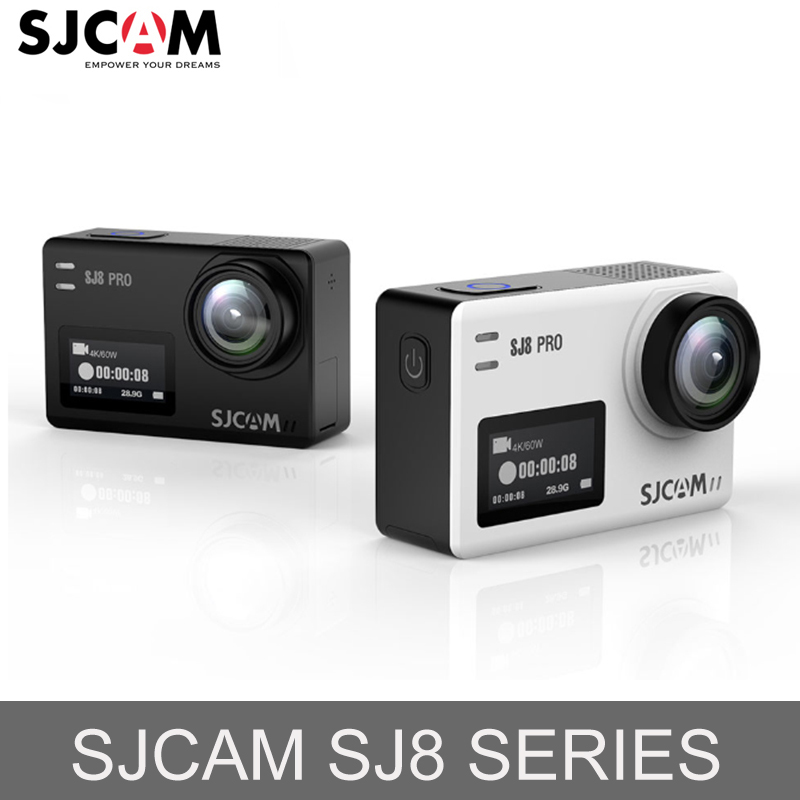 Original SJCAM SJ8 Series 4K 60FPS WiFi Remote Helmet Action Camera  Ambarella Chipset Ultra HD Extreme Go Sports Pro DV Camera