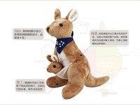Ücretsiz nakliye, 25 cm Avustralya kanguru peluş oyuncak eşarp kanguru bebek, noel hediyesi w4309