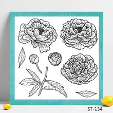 цены Flower design Transparent Silicone Stamp for DIY Scrapbooking/Photo Album Decorative Card Making Clear Stamps Supplies