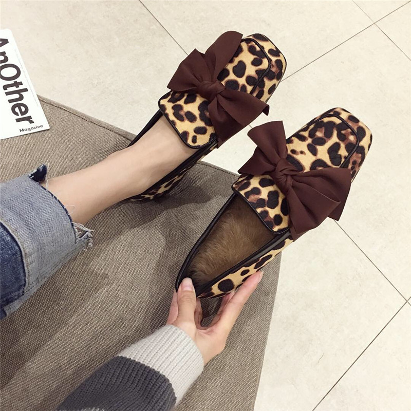 Wellwalk Ballet Flats Woman Shoes Leopard Loafers Women Ballerina Flats Shoes Ladies Black Flats Female Moccasins Shoes Spring 16