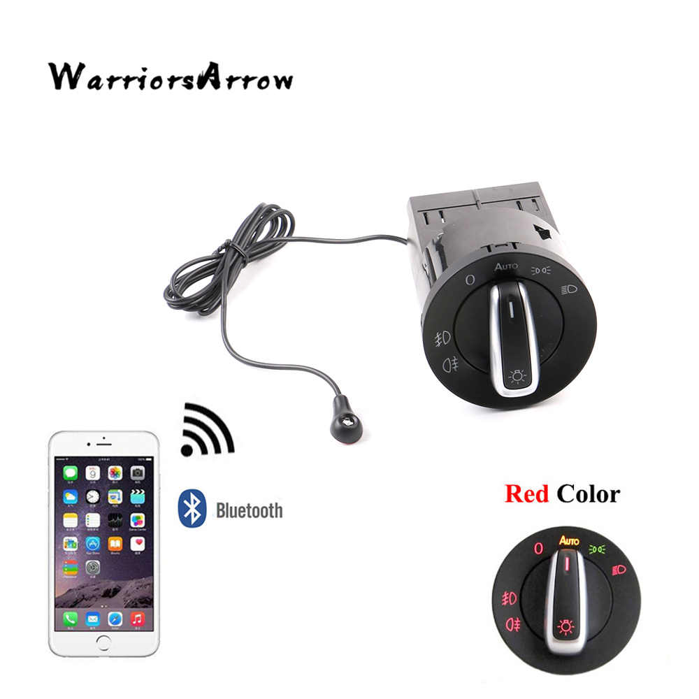 WarriorsArrow AUTO Headlight HeadLamp Switch Light Sensor Module Bluetooth Upgrade For VW Golf MK4 Jetta 4 Passat B5 Polo Bettle