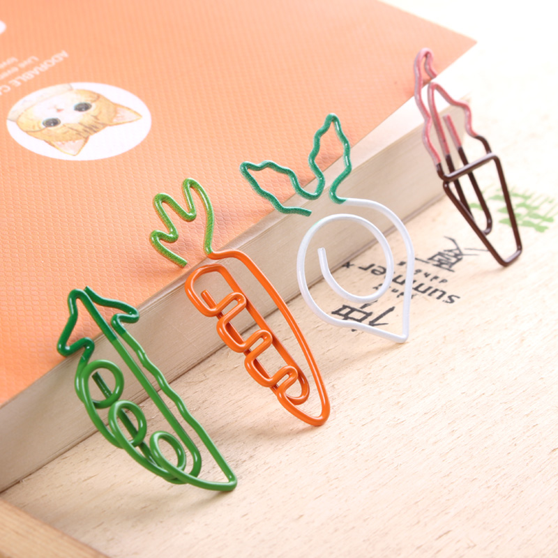 Cartoon Carrot Paperclip Bookmark Creativity Lovely Paper Clip Paperclips Kawaii Accessories Kawaii Stationery Paperclips Metal