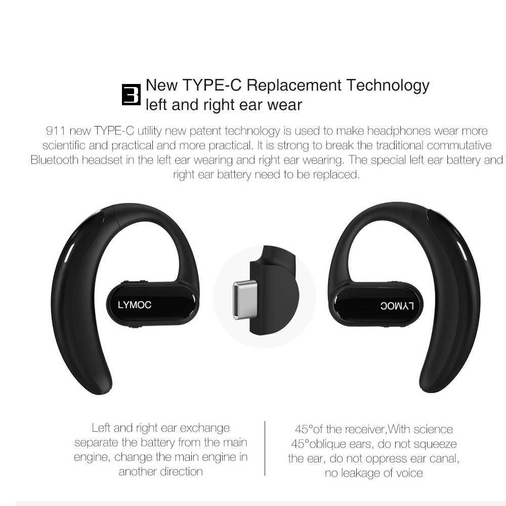 b8cc188a579 ... LYMOC 911 Bluetooth Headphones Wireless Headsets Trucker Handfree  Earphones 16-Hr for Driving/Business ...