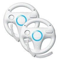 2 X Pcs White Steering Mario Kart Racing Wheel For Nintendo Wii Remote Game
