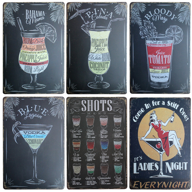 Hot Sexy Beauty Beer Chic Home Bar Vintage Metal Signs Home Decor Vintage Tin Signs Pub  ...