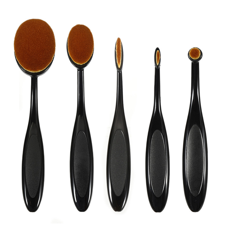 Makeup Foundation Powder Brush Conceler Make up Blushes Toothbrush Oval Shape Brochas Maquillaje 2019 Cosmetic Beauty Tool dfdf image
