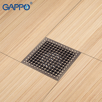 GAPPO Drains Shower Floor Cover Antique Brass Drain Bathroom Floor Drain Chrome Plugs Drain Stopper