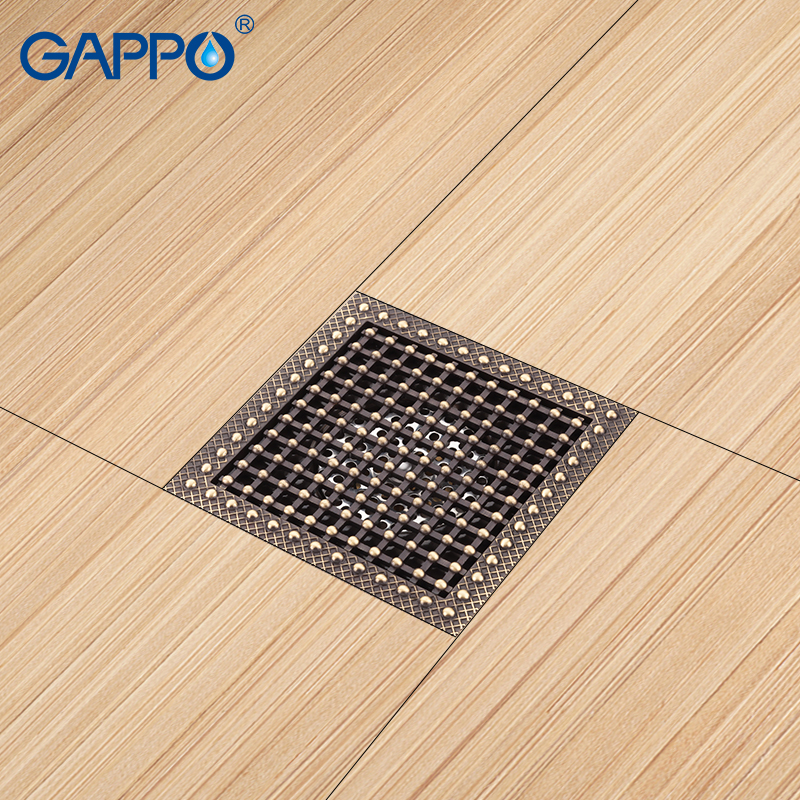 GAPPO Drains shower floor cover antique brass drain bathroom floor drain chrome plugs drain stopper цена