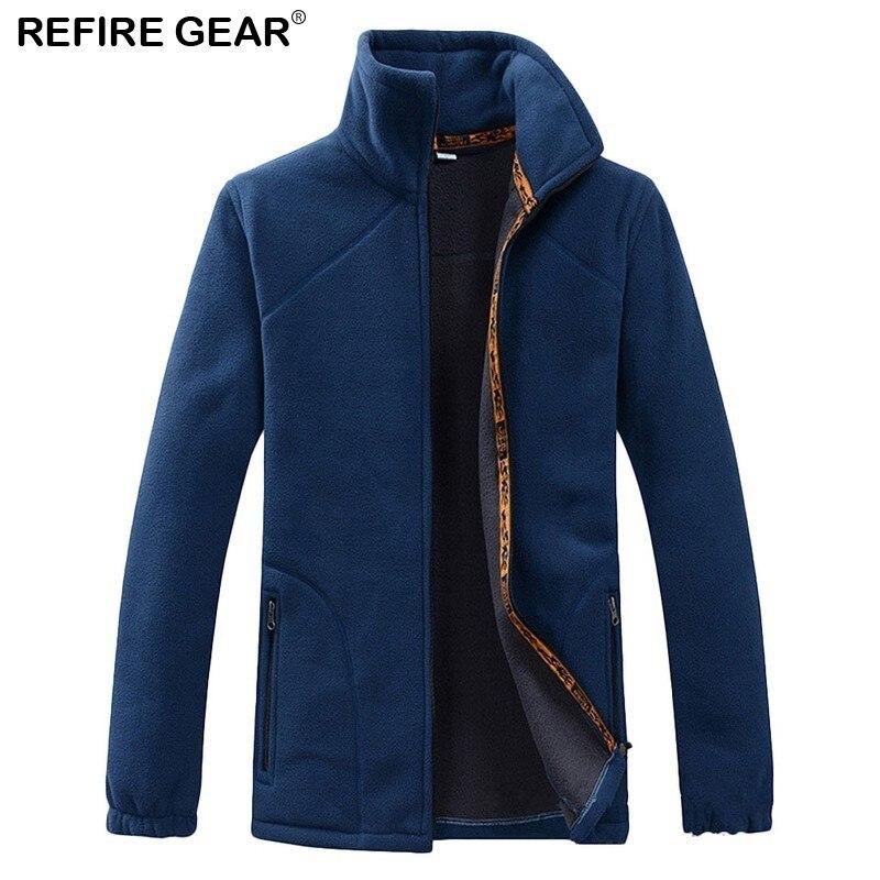 Refire Gear Men's Polar Fleece Jacket Men 2018 Spring Warm Outdoor Sports Windproof Coats Male Trekking Camping Hiking Jackets
