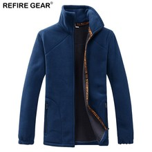 Refire Gear Men's Polar Fleece Jacket Men 2018 Spring Warm Outdoor Sports Windproof Coats Male Trekking Camping Hiking Jackets whs 2018 new men thin cotton jacket autumn outdoor windproof warm coat spring male mens camping clothes hiking jackets hot