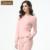 Qianxiu mulheres marca Pijama definir moda primavera algodão manga comprida sólidos Pijama Pijama feminino Ladies salão pijamas roupa