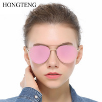 HONGTENG Tech Semi Rimless Aviator Women Sunglasses Silver Mirrored Clear Visibility Polarized Lens Men S Cool