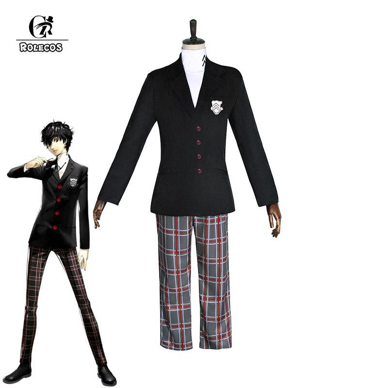 ROLECOS Persona 5 Game Cosplay Costume Ren Amamiya Anime Cosplay Akira Kurusu Costume Joker Men Suits Costume Persona 5