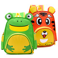 2016 children school bags children backpacks Nylon for preschool Baby lovely school bags for 1-3 years tiger Frog pattern