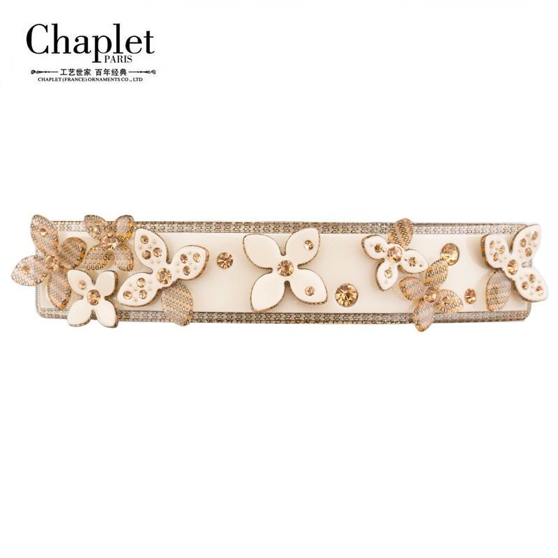 Chaplet 2016 New Elegant High Quality Flower Hair Clips Rhinestone Hair font b Jewelry b font