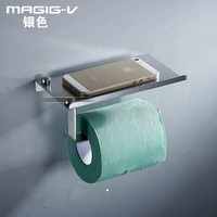 Toilet paper towel box stainless steel double volume toilet paper towel rack 304 toilet paper box rectan