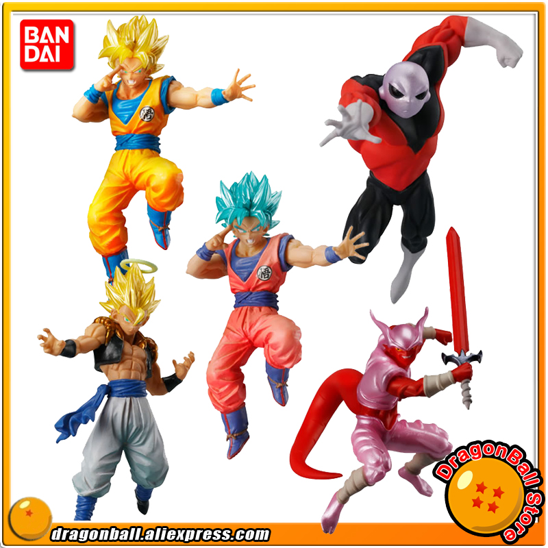 Japan Anime Dragon Ball SUPER Original BANDAI Gashapon Figure Battle VS 04 - Full Set 5 Pieces Gogeta Goku Janenba Jiren sailor moon capsule communication instrument machine accessory gashapon figure anime toy full set 100